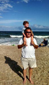 Doug and Matthew Jr at Wrightsville Beach