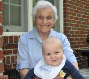 Grandma holding baby MJ