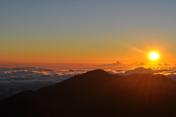 Sunrise over Haleakala Volcano in Maui, Hawaii - image mine