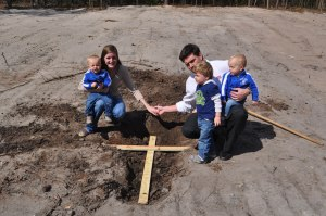 Burying our cross beneath our house